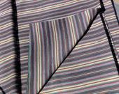 Guatemalan Fabric in Gray Stripes