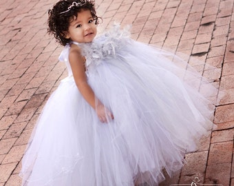 Silver Dusk Princess Girls Tutu Dress