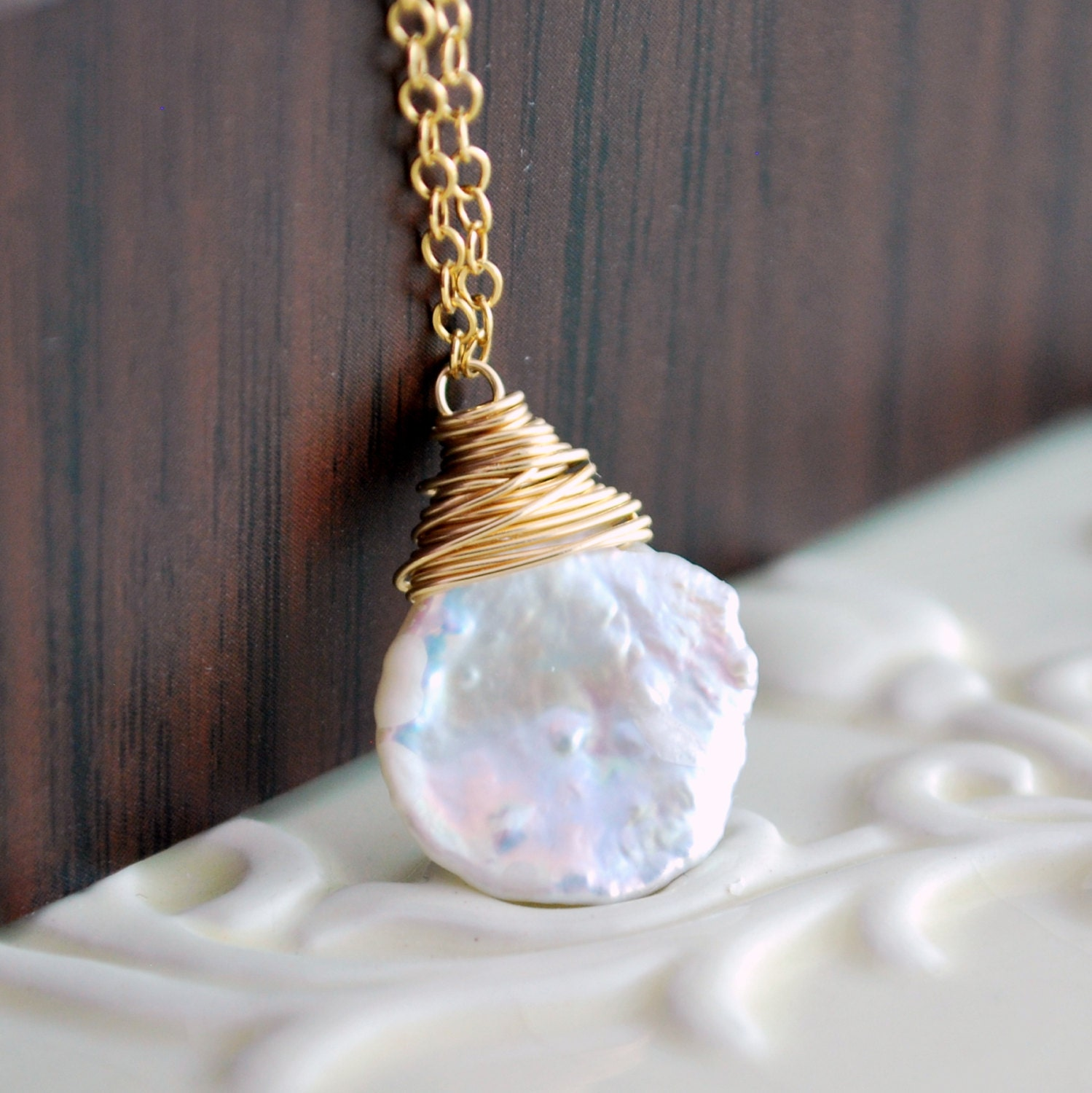 white keishi pearl necklace freshwater summer jewelry simple. Black Bedroom Furniture Sets. Home Design Ideas