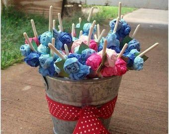 20 Long Toothpicks with handmade roses for cupcakes drinks and more