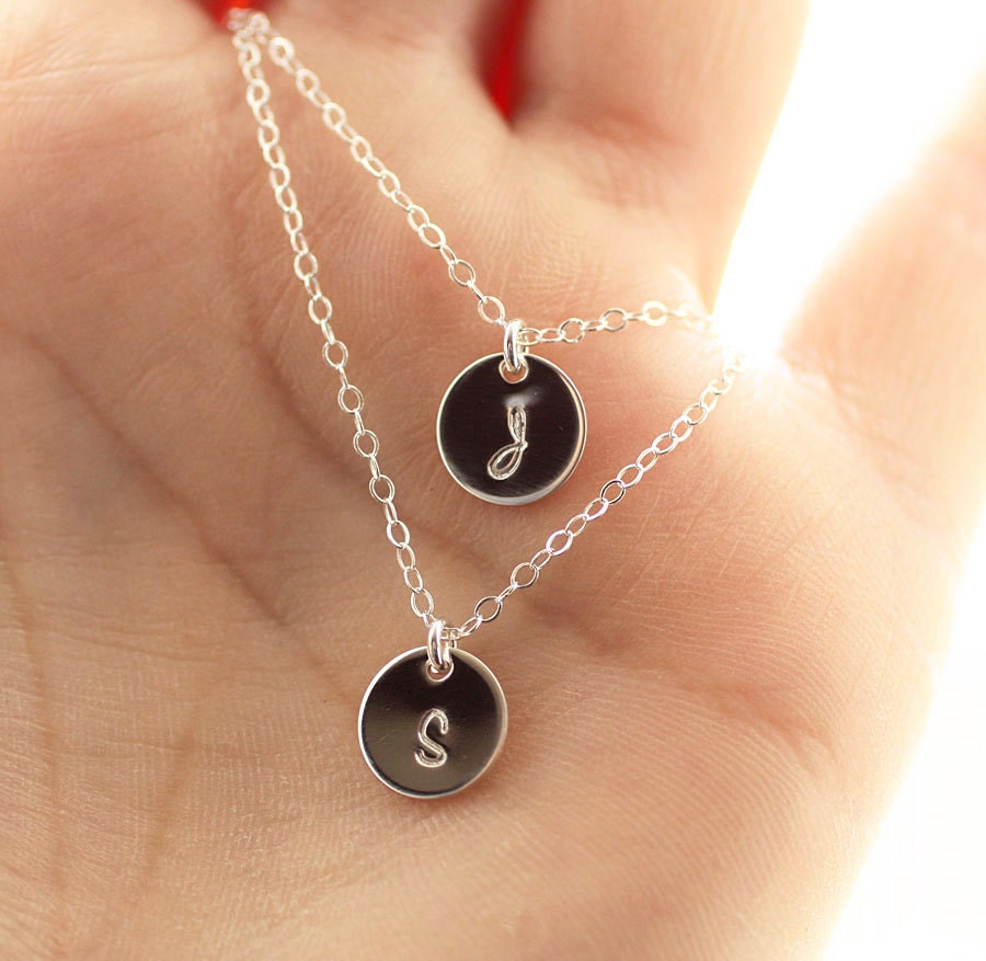May The 4th Be With You Necklace: Layering Initial Necklaces Double Strand Necklace Dainty