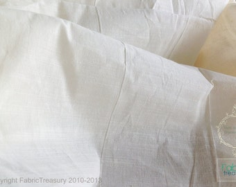 Organic Fabric. Unbleached organic cotton. Fine slub woven stripes. Sheer Curtain Fabric. 44 inches wide.