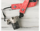CLOSEOUT SALE - ruched camera strap cover - soft coral