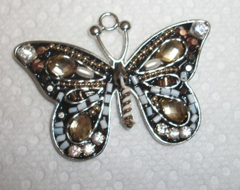 chrystal and beaded butterfly
