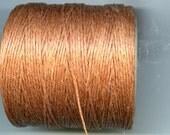 Goldbrown  Waxed Cord Thread 5 yards