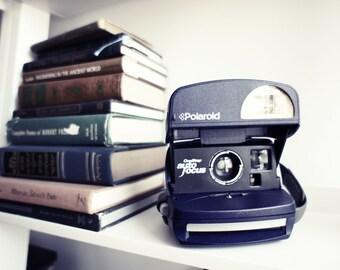 Polaroid Camera Autofocus 600 Midnight Blue - Film Tested Working