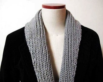 SAMPLE SALE - Boyfriend scarf, Gray collar shawl scarf