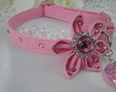 SALE-Valentine's Day Crystal Dog Collar Package - Pink Glitter with Swarovski Crystals