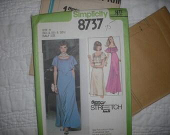 Vintage Simplicity 8737 Maxi Dress / Evening Dress