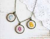 Personalized necklace - Initial jewelry - Monogram necklace - Mother's jewelry - i010