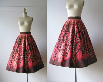 vintage 1950s skirt / Mexican circle skirt / Colores de Campos