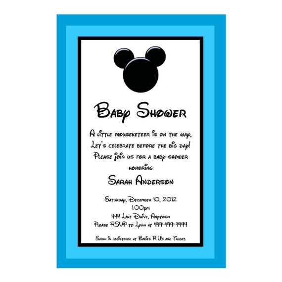 mickey mouse blank baby shower invitations mickey mouse inspired baby
