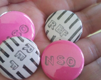 roller derby REF and NSO two button pack