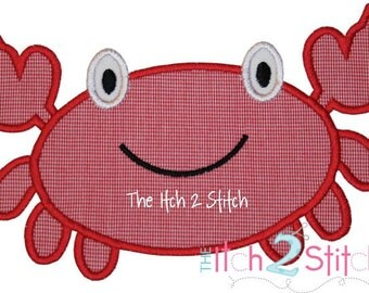 Crab Applique Design In Hoop Size(s) 4x4, 5x7, and 6x10  INSTANT DOWNLOAD now available