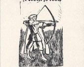 WANTED: Robin Hood Verily for Cunning & Daring Do linoprint