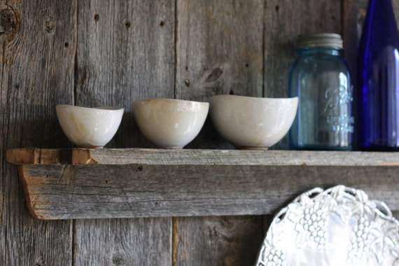 Mini Nesting Bowls - White Shino set of 3 - Pottery Bowls - Stacking bowls