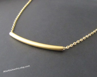 Round Bar  Necklace Pendant Necklace Jewelry Gift