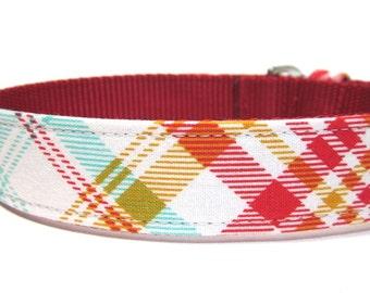 Dog Collar- Rusty Red Plaid