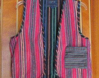1980s Esprit Guatemalan Ikat Vest
