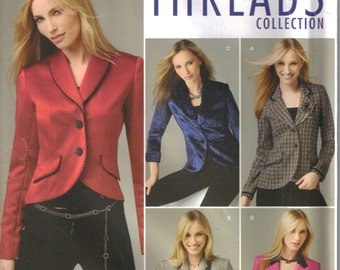 Jacket Pattern - Short Jacket Pattern Size 8 - 16  Eur Size 34 - 44 Uncut  Simplicity 4425