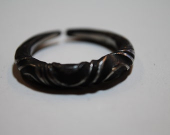 large twisted stainless steel ring