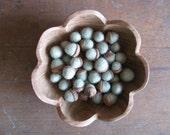 Felted wool acorns, Mint Green, wholesale set of 50, for Spring decoration, mint green bowl filler, light green felt acorn, woodland wedding