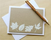 Masculine Card, Masculine Stationary, Father's Day Card, Embossed Leaf Card, Hand Stamped Card - theapplecrate