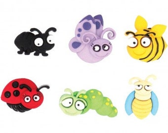 Eyed Bug Novelty Buttons/DIY Sewing & Craft supplies/Plastic Buttons /Kids craft Supplies /Party Supplies/Dress it Up