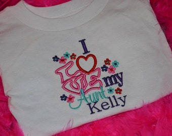 I Love My Aunt Embroidered t-shirt