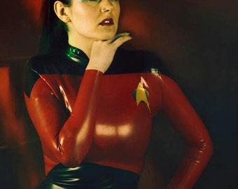 Star Trek Inspired Rubber Latex Dress