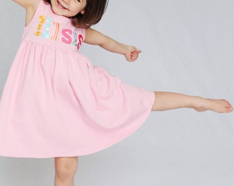Little Sister Dress- Sibling Dress- Big Sister Little Sister- You Choose Dress Color and Sleeve Length