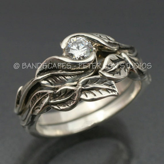 like this item - Leaf Wedding Ring