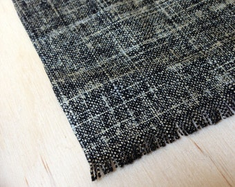 6 x 9 Black and Gold modern style rug - Modern Miniature - Dollhouse Size