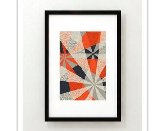INTERSECT no.2 - Giclee Print - Modern Mid Century Modern Minimalist Abstract