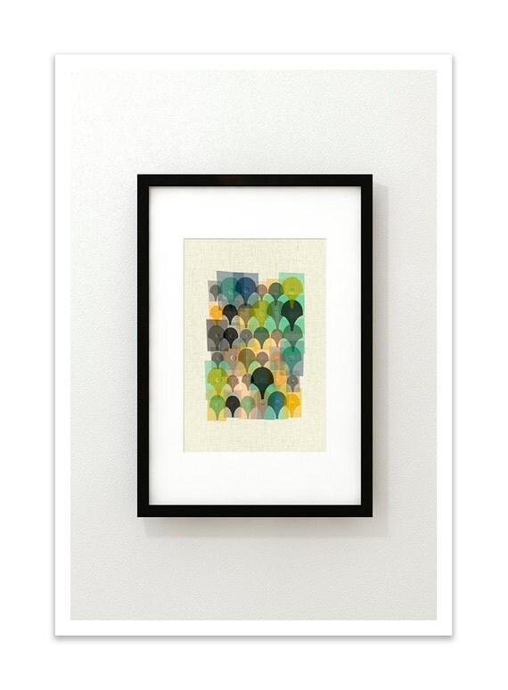 DEW - Giclee Print - Mid Century Modern Danish Modern Minimalist Cubist Modernist Eames Abstract