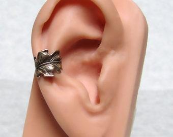Oak Leaf Forest Ear Cuff