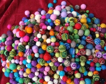 2 Ounces Of Baubles For Wreaths Garlands Jewelry Crafts Or Just For Fun