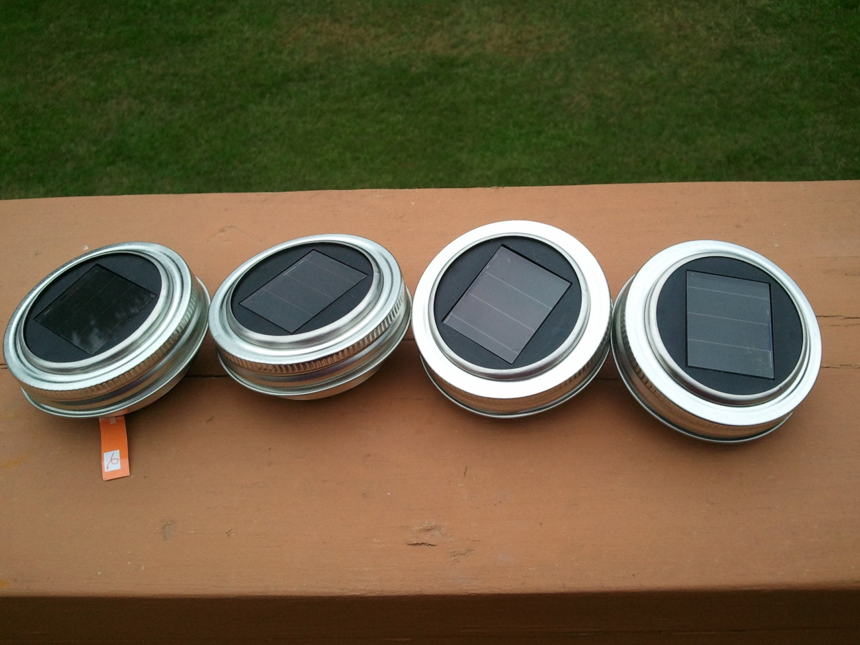 4 Solar Lights Lids For Handcrafted Solar Mason Ball Jar