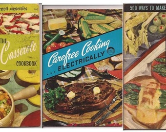 Classic Cookbooks, Vintage Kitchen Cookbooks, Promotional Booklets, Recipes, Cooking and Baking, Classic Casserole, Edison Institute
