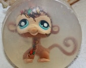 Littlest Pet Shop Special Edition Monkey Recycled Toy in a bar of soap