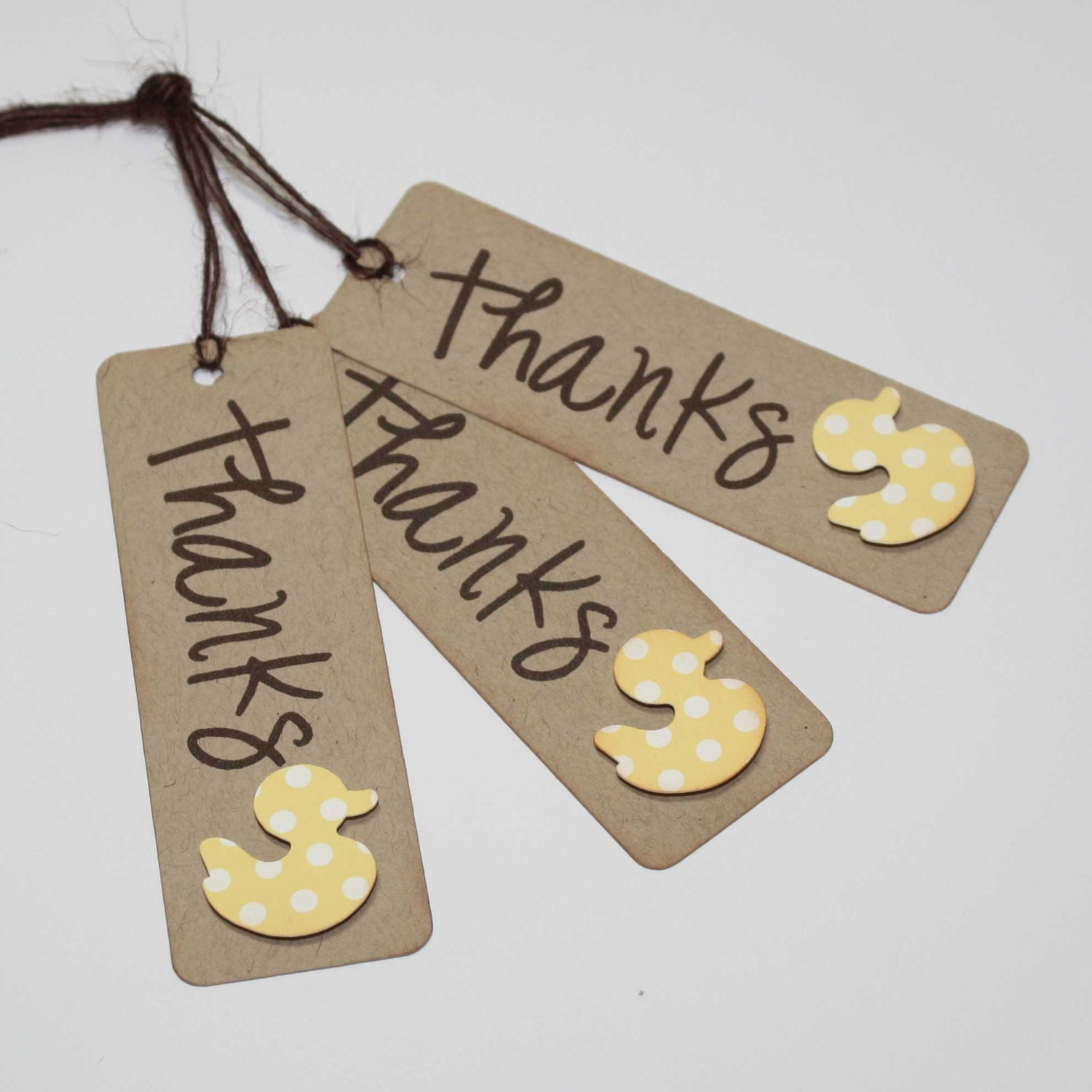 Duck Favor Tags / Baby Shower Thank You Tags / Favor Tags