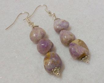 Charoite Gemstone Earrings