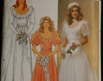 Butterick 4765 Misses Bridal Gown or Bridesmaid Dress Vintage Sewing Pattern  Sz 10