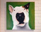 Custom Pet Portrait 24x24 Canvas Art Acrylic Painting Original Painting Dog, Cat, Duck, Horse, Rabbit, Cow