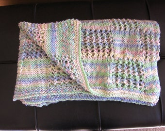 Hand Knitted Baby/Toddler Blanket