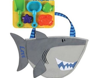 Personalized Stephen Joseph SHARK Beach Tote CHILDS TOYS Playset Boys