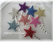Bobby Pin- Star German Glass Glitter Hair Clip- You Pick Color