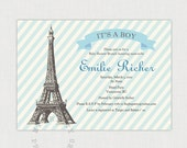 Paris Baby Shower Invitation - You-Print Digital Invitation