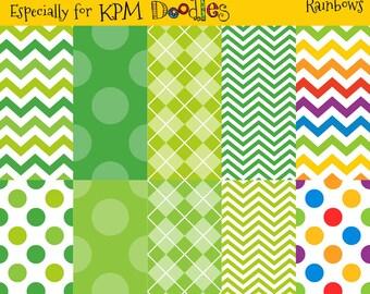 Megan's Shamrocks and Rainbows Digital  Paper Pack