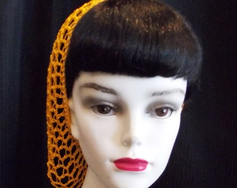 Yellow Rockabilly Snood Hair Net